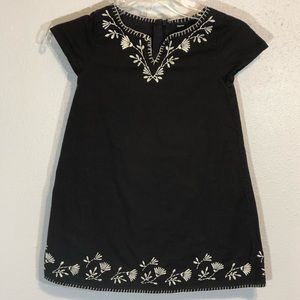 Gap Kids embroidered chocolate brown lined dress